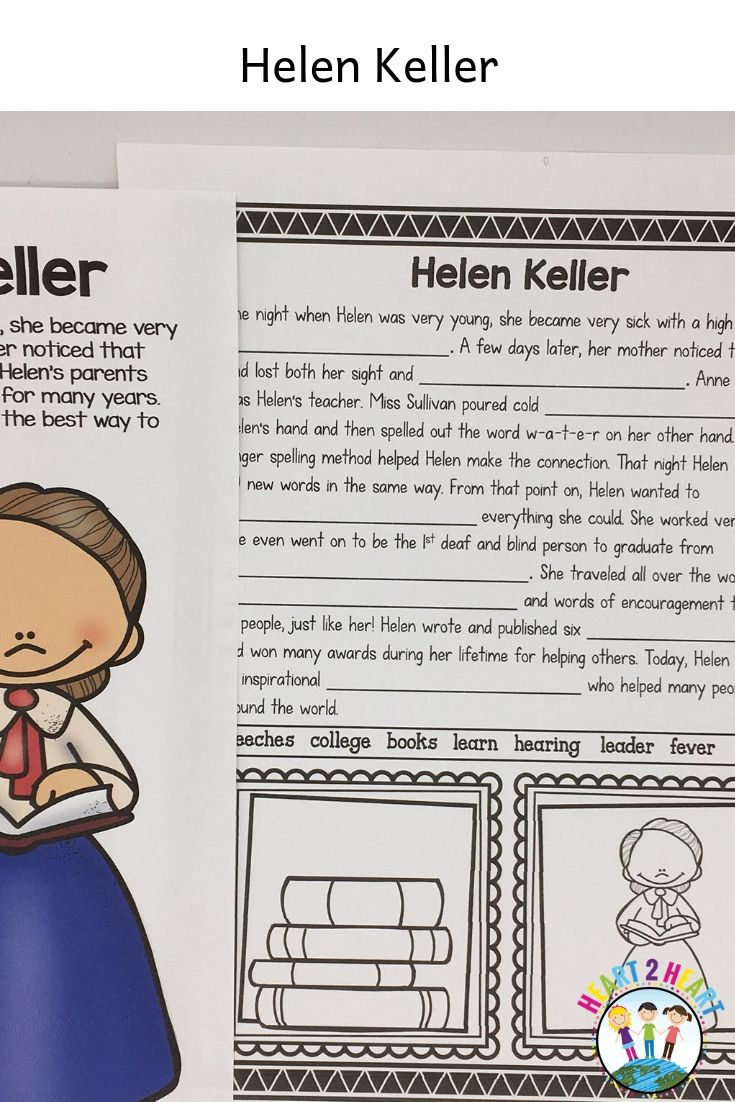 The Life Story Of Helen Keller Biography Unit Articles Activities