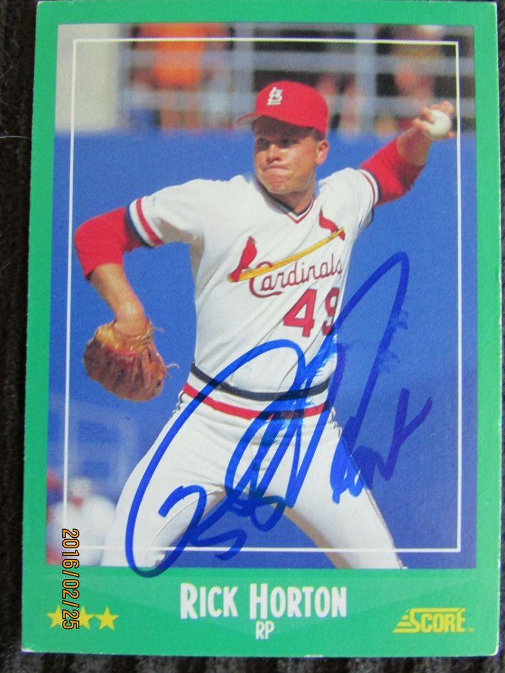 1988 Score 412 Rick Horton (TTM) Baseball cards, Scores
