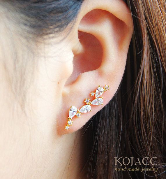 1pair price Ear climbers by KoJacc on Etsy