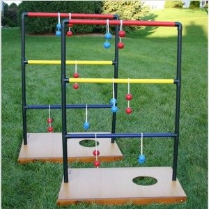 Triumph Sports Trio Toss, Bag Toss / Ladder Toss / Washer Toss  ~This is easy to make with PVC piping etc and use golf balls and nylon rope for the toss.