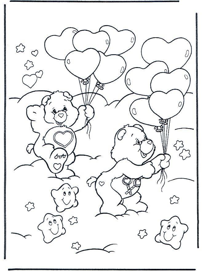 www.nukleuren.nl Dutch website for colouring and crafting. Troetelbeertjes met ballonnen