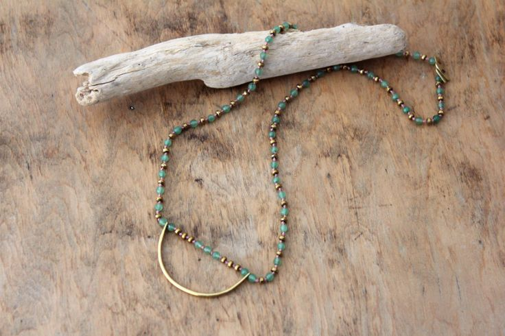 Hand knotted necklace with light green agate beads