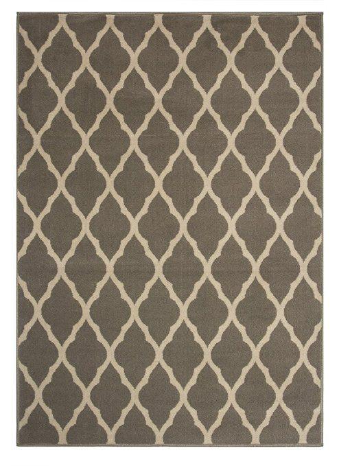 Milan Tapis Imprimé Treillis Gris Classique Doux au Toucher 1799-H22 - 5…