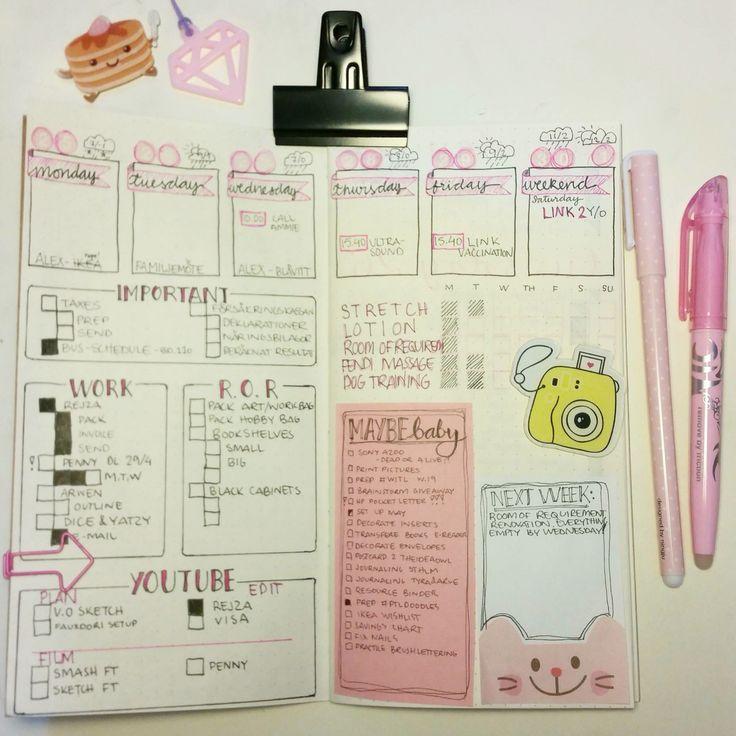 Bullet journal weekly
