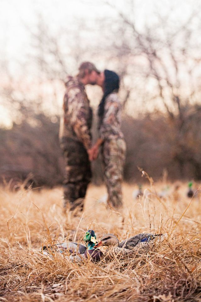 Engagement picture! He loves duck hunting!
