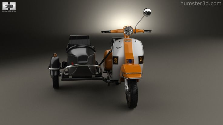 360 view of Piaggio Vespa PX 200 Sidecar 1998 3D model - Humster3D store