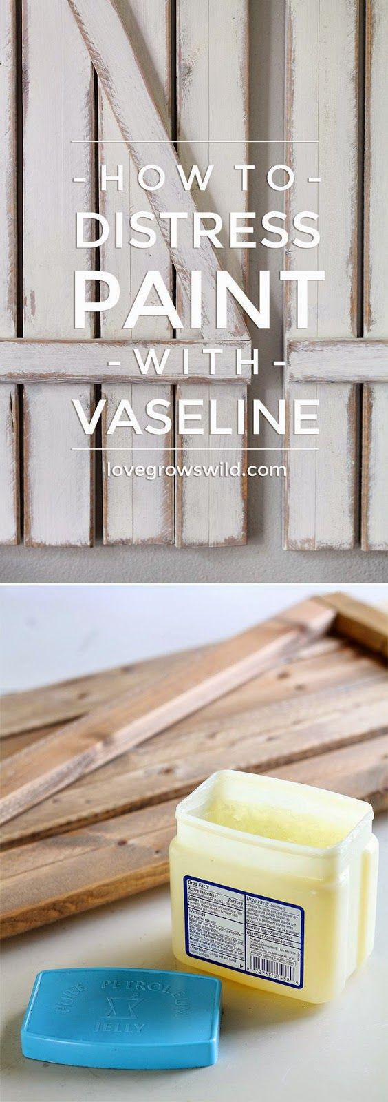 Craft Project Ideas: HOW TO DISTRESS PAINT WITH VASELINE