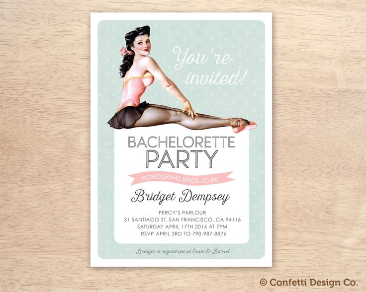 8 best pin up images – Vintage Bachelorette Party Invitations