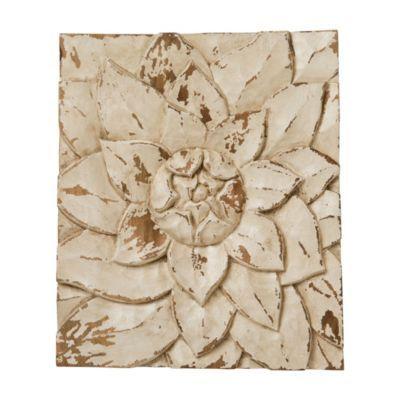 Terrain Lotus Petals Wall Plaque #shopterrain: Plaques Shopterrain, Awesome Products, Petals Wall, Lotus Petals, Layered Petals, Wall Plaques, Cream Flowers, Wood Plaques, Plaques 40
