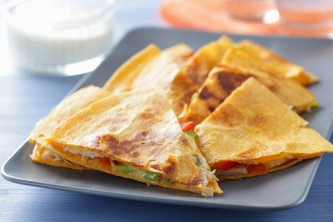 Baked Quesadillas with Sharp Cheddar, Roasted Sweet Potatoes and HOJ Sweet and Spicy Pork Jerky