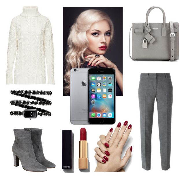 Miss Grey by rosehage on Polyvore featuring polyvore, fashion, style, DKNY, L'Autre Chose, Yves Saint Laurent, Chanel, women's clothing, women's fashion, women, female, woman, misses and juniors