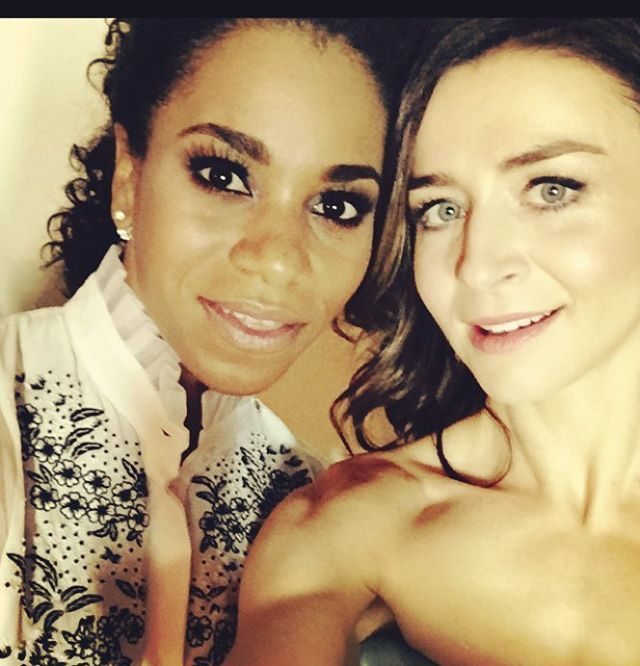 Kelly McCreary and Caterina Scorsone