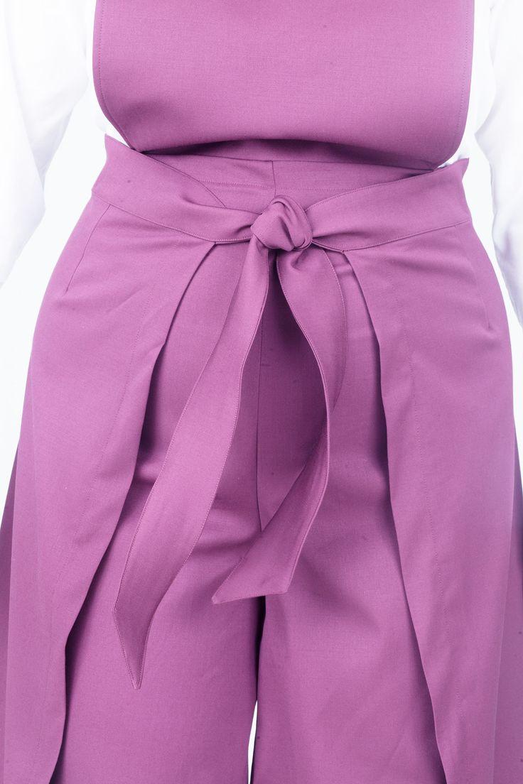 Sarong Wrap Playsuit / Purple