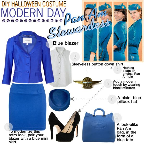 do it yourself halloween costume pan am stewardess by darling - Black Dynamite Halloween Costume