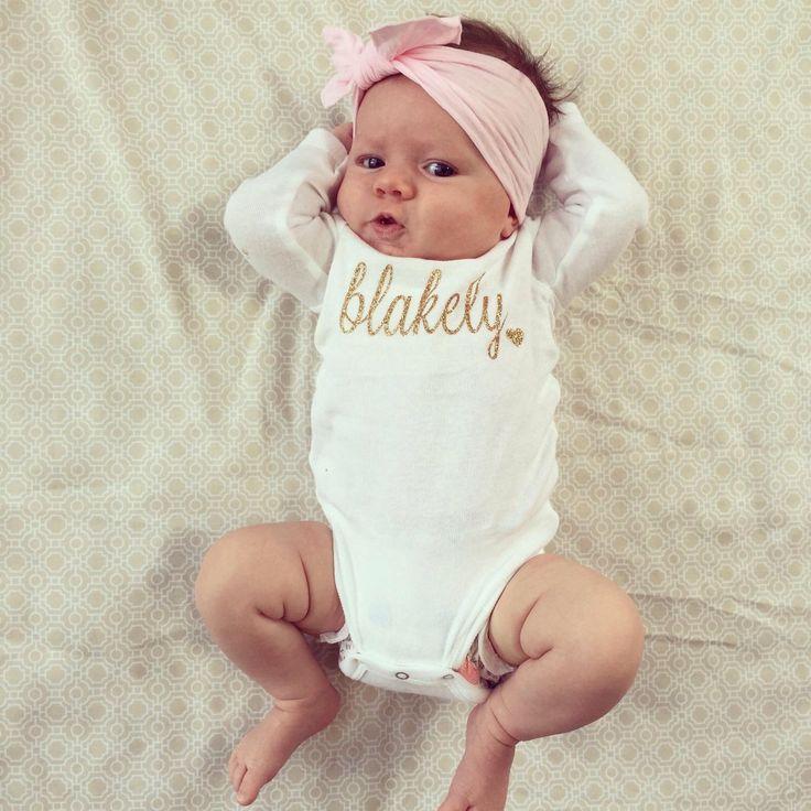 Baby Name Onesie by CuterThanWords on Etsy https://www.etsy.com/listing/243135663/baby-name-onesie