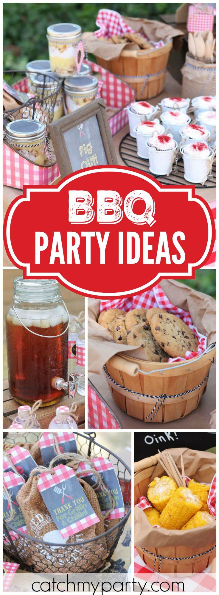 154 best bbq party theme ideas images on pinterest for Food bar party ideas