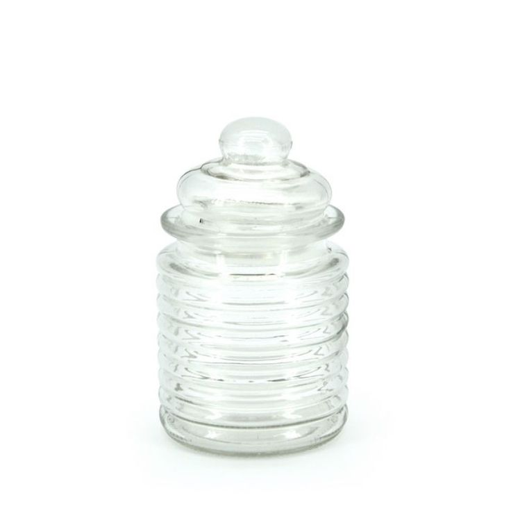 Glass Candy Jar with lid. Our glass milk bottles and jars are budget friendly and the perfect option for a bohemian chic wedding or event.