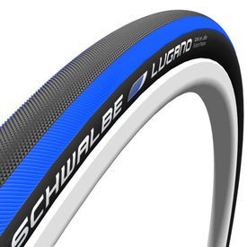 SCHWALBE TIRE LUGANO 23-622(700x23C) Blue Stripes #biketyre #cycletyre #wizbiker #shoponline #schwalbe #schwalbelugano #cycling