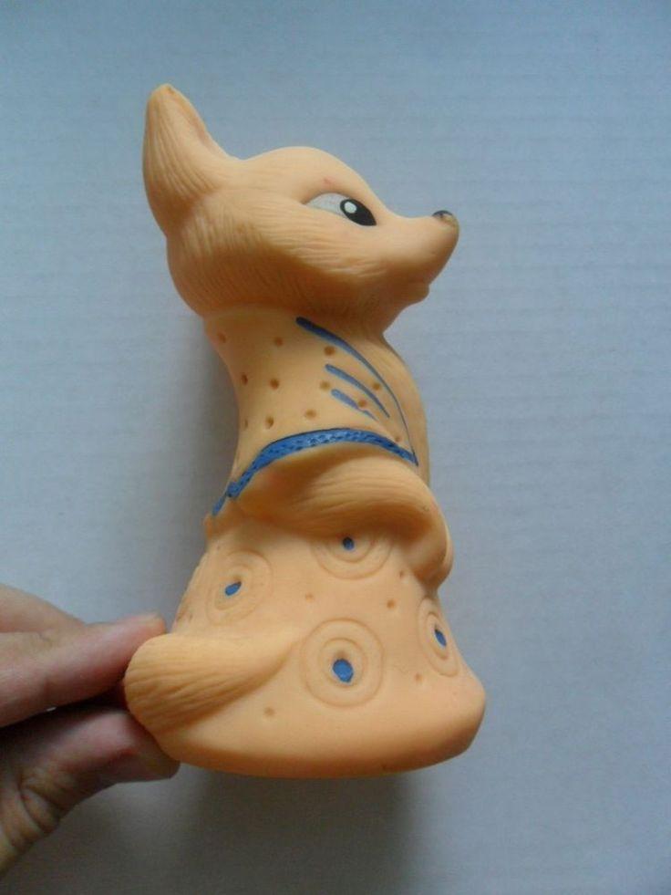 Vintage Soviet USSR Rubber Toy Doll Fox in Rubber   eBay