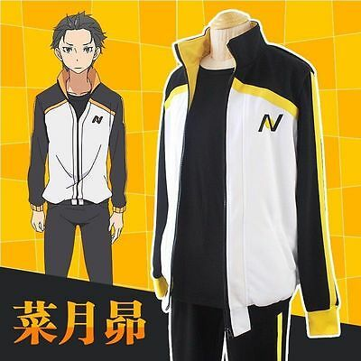 Re:Life In A Different World From Zero Natsuki Subaru Anime Cosplay Costume US #…
