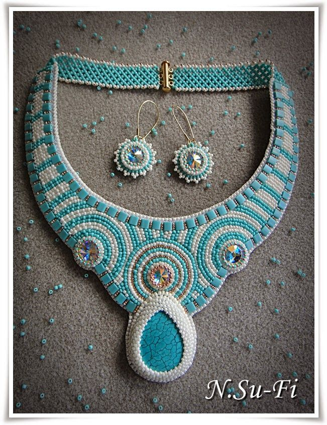 """Biżuteria od N.Su-Fi: Komplet """"Kręgi na wodzie"""""""