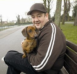 The Long and Short of it All: A Dachshund Dog News Magazine: Celebrity Dachshund Watch UK: Johnny Vegas and his red smooth pal Frank