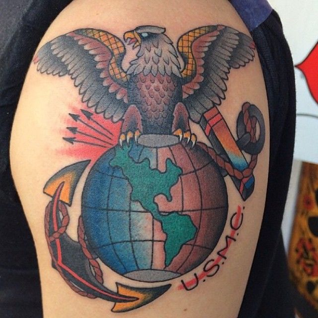25 Cool USMC Tattoos - Meaning, Policy and Designs