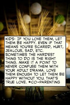 it is so sad that some people are so selfish that they cannot co-parent. they would rather have their children choose them than choose both parents