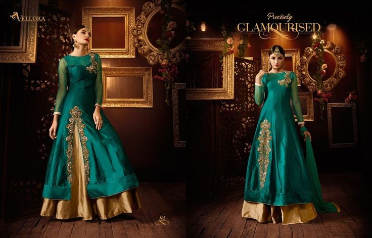 Ethnic Empire Latest New Designer Rama Tapetta Silk Long Anarkali Suits | eBay
