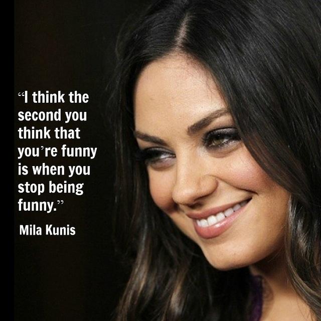Mila Kunis -  Movie actor quote  - Film actor quote   #milakunis