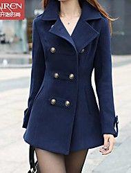 muairen®women'fashion chaqueta informal chaqueta de lana delgada