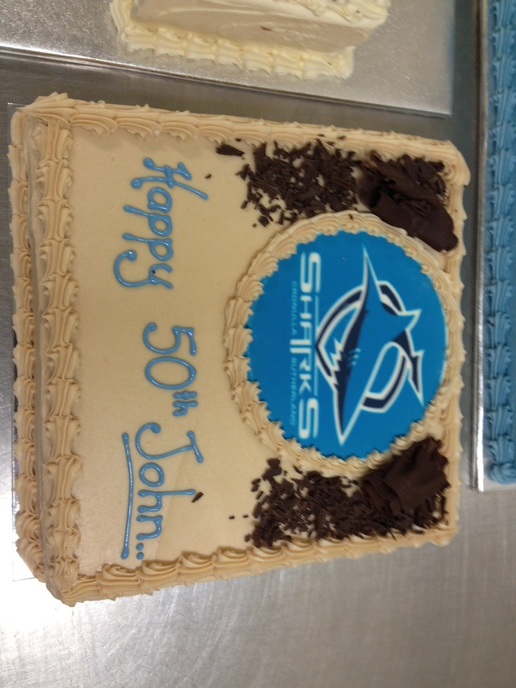 Cronulla Sharks Birthday Cake