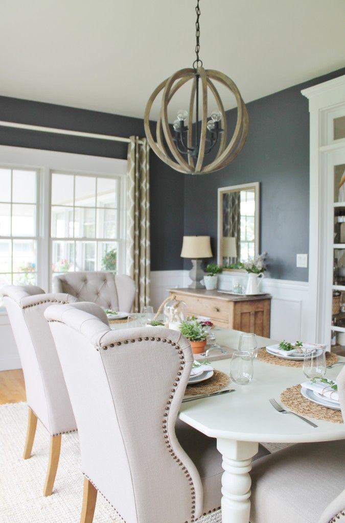 BM Stormy Sky  Summer Tour & Dining Room Reveal-Navy & Gray