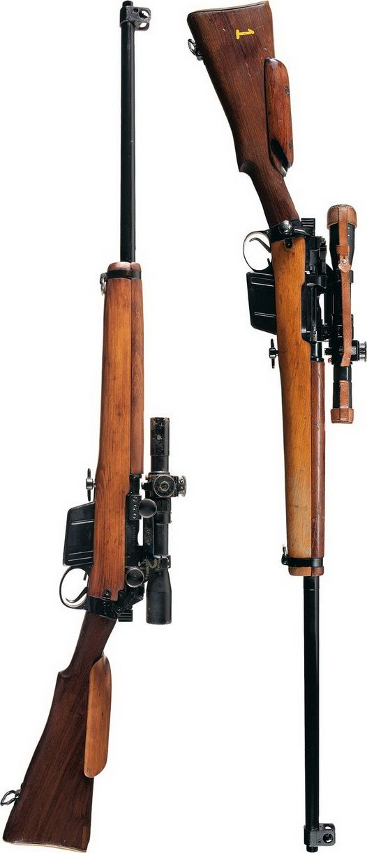 L42A1 Enfield sniper rifle (Britain). The No4 was still used until the 90's as a target rifle, bored out to 7.62mm.