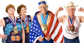 Age of Champions is the uplifting story of five competitors who sprint, leap, and swim for gold at the National Senior Olympics. You'll meet a 100 year-old tennis champion, 86 year-old pole vaulter, and rough-and-tumble basketball grandmothers as they discover the power of the human spirit and triumph over the limitations of age.