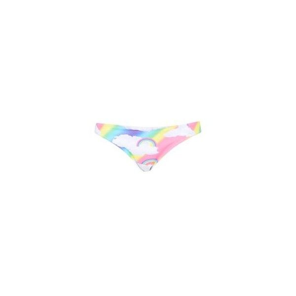 Rainbow Cloud Bikini Bottoms by Jaded London ($32) ❤ liked on Polyvore featuring swimwear, bikinis, bikini bottoms, hipster bikini bottom, topshop, topshop swimwear, hipster bottom bikini and bikini bottom swimwear