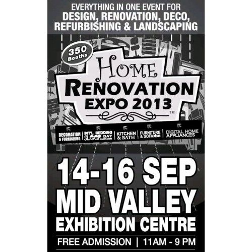 Home Renovation Convention: Home Renovation Expo 2013 Mid Valley Exhibition Centre