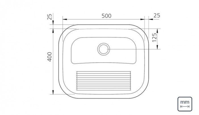 Tanque de encaixe em aço inox polido 55x45 cm - 94400407 : Produtos para Área de Serviço - Tanques para Lavar Roupas | Tramontina