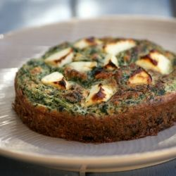 Not quite a frittata or a crustless pie, I'm calling it a bake! This Spinach and Feta Bake makes a healthy & delicious lunch or dinner!