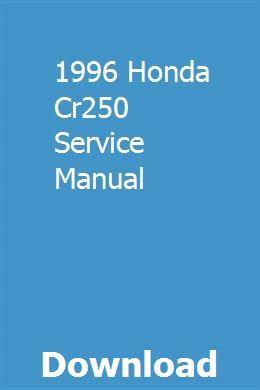 1996 Honda Cr250 Service Manual Honda civic, Nissan