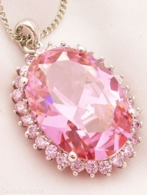 This.  Pink Pendent girl pink jewelry pretty necklace sparkle gem pendant Crystal pink jewelry Diamonds #pink #diamond