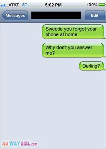 funny parent text forget phone