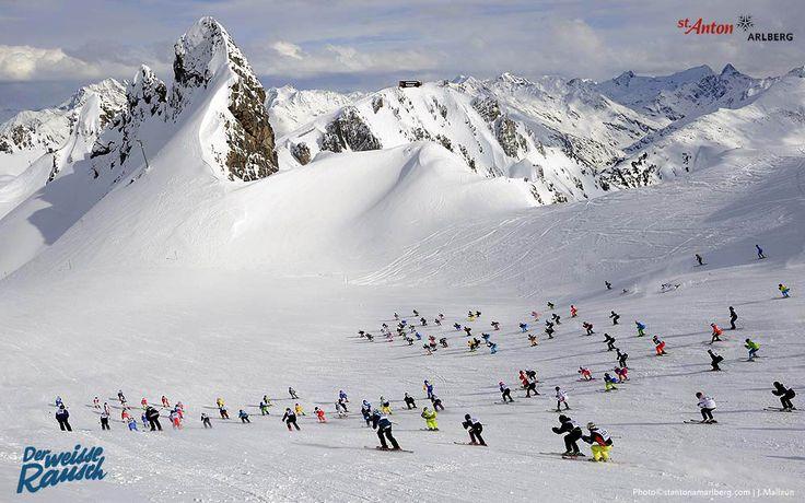 Der Weiße Rausch - das Kultrennen mit Massenstart in St. Anton am Arlberg | Tirol | Austria