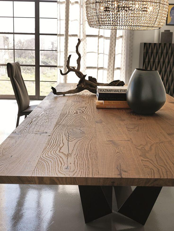 Rectangular Wooden Table SKORPIO WOOD By Cattelan Italia
