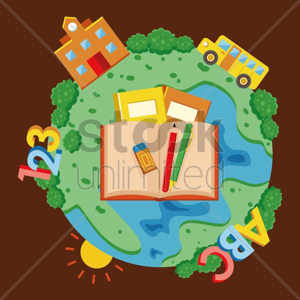 educational theme vector graphic