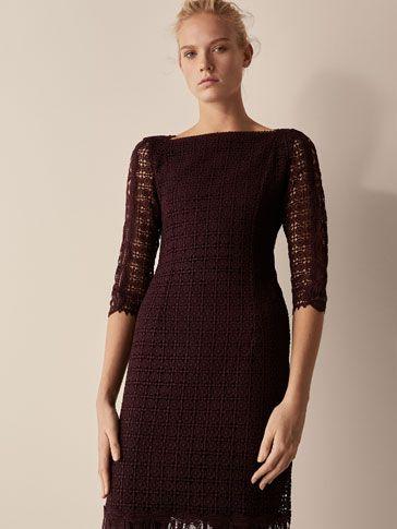 e8c8bf727be7 Geometric Guipure Dress