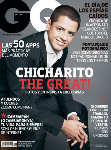 Chicharito The great! en octubre de 2011.
