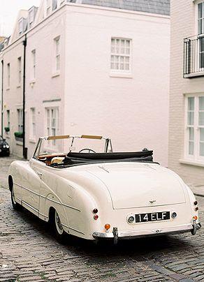 vintage white bentley