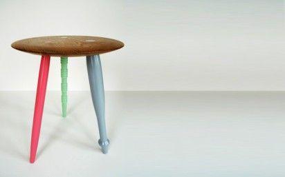 diy 3-legged bistro tableCabo En, Furniture Inspiration, Crafts Ideas, 3 Legs, Diy Design, Colors Legs, Granny Stools, Furniture Legs, Legs Tables