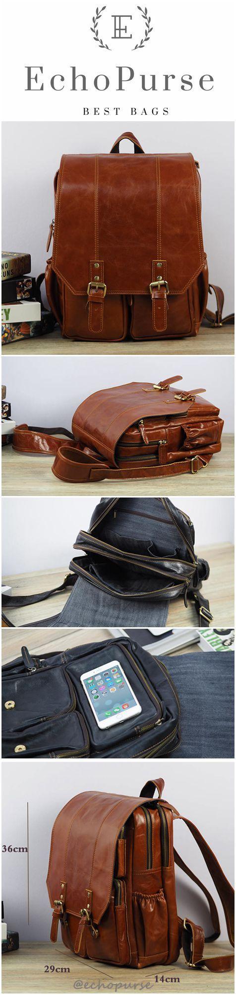 Vintage Men's Backpack, Fashionable Shoulder Bag, Computer Bag 1065